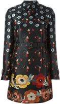 RED Valentino floral print trench coat - women - Polyamide/Polyester/Acetate - 40