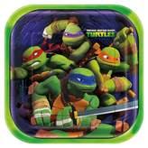 Nickelodeon 8ct Teenage Mutant Ninja Turtles TMNT Square Dinner Plate