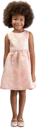 Bonnie Jean Little Girls Bow-Back Brocade Dress