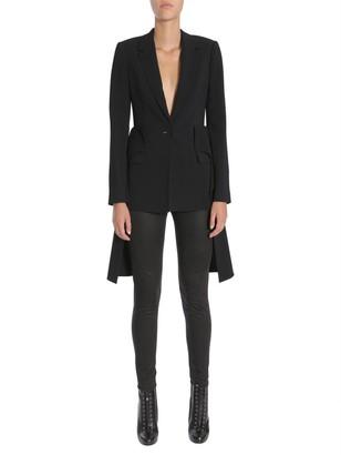 Givenchy Ruffled Coat Tail Blazer