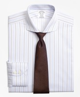Brooks Brothers Regent Fitted Dress Shirt, Non-Iron Double Alternating Stripe