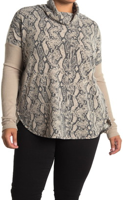 Sweet Romeo Turtleneck Ribbed Tunic Pullover