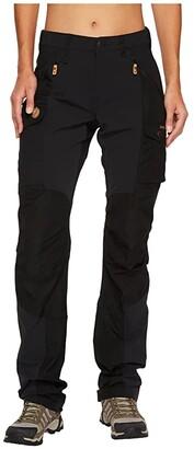 Fjallraven Nikka Curved Trousers (Black) Women's Casual Pants