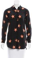 MiH Jeans Star Print Silk Top w/ Tags