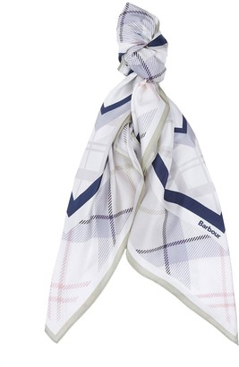 Barbour Tartan Silk Square Scarf - Multi