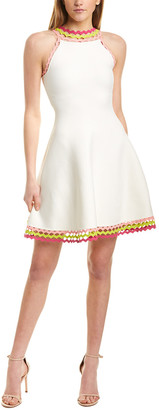 Milly Diamond Cut A-Line Dress