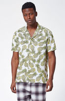 Barney Cools Pineapple Short Sleeve Button Up Camp Shirt