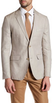 Bonobos Gray Woven Two Button Notch Lapel Slim Fit Jacket