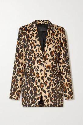 Thierry Mugler Leopard-print Cotton-blend Blazer - Leopard print