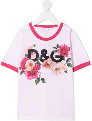 Dolce & Gabbana Kids floral-print T-shirt