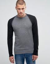 Diesel K-Fucatio Sweater Contrast Sleeves