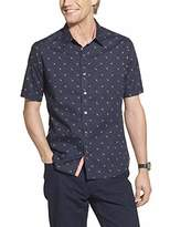 Geoffrey Beene Men's Slim Fit Easy Care Short Sleeve Button Down Shirt