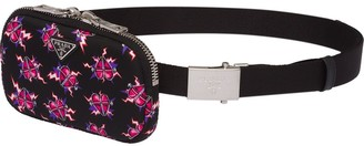 Prada Fabric belt with pouch