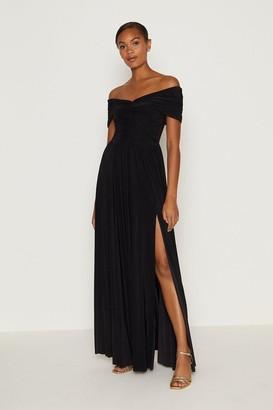 Coast Jersey Ruched Bardot Maxi Dress
