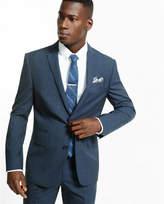 Express slim photographer navy plaid wool suit jacket