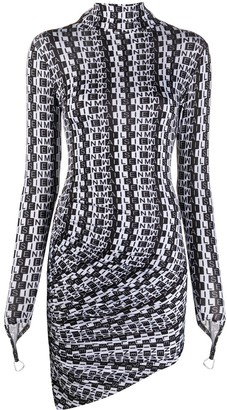 MAISIE WILEN Orbit City logo-print dress