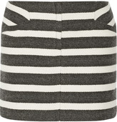 Maje Geste striped woven mini skirt