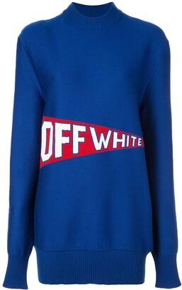 Off-White Varsity Style Logo Jumper