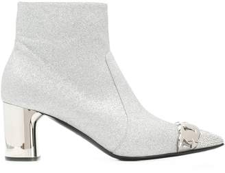 Casadei glitter heeled ankle boots