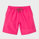 Paul Smith Men's Classic-Fit Fuchsia Long Swim Shorts