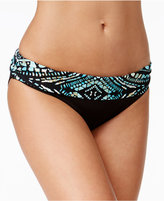 Kenneth Cole Desert Romance Metallic Tribal-Print Bikini Bottoms
