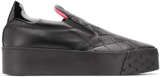 Blumarine quilted effect sneakers