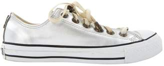 Converse Silver Leather Trainers