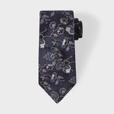 Paul Smith Men's Navy 'Logan Floral' Silk Tie