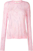 Ports 1961 embroidered fitted top - women - Cotton/Polyester - S