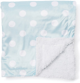 Blue Polka-Dot Minky Stroller Blanket