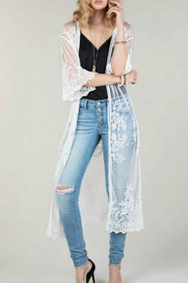 Couture Natasha Fashion Floral Damask Lace-Kimono
