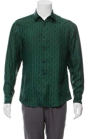 Gucci Abstract Print Silk Shirt