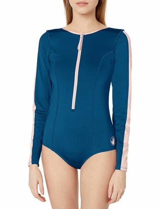 Body Glove Women's Breeze Zip Front Paddle One Piece Swimsuit with UPF 50+