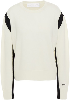 Victoria Victoria Beckham Two-tone Wool Sweater
