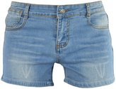 PHOENISING Women's Sexy Stretchy Fabric Distressed Jeans Denim Shorts,Size 2-16