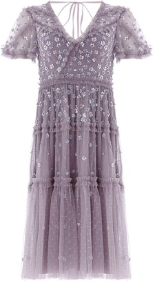 Needle & Thread Ruffle Glimmer lilac sequin-embellished tulle dress