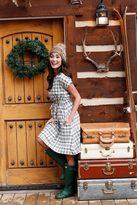 Shabby Apple B&W Plaid Dasher Dress