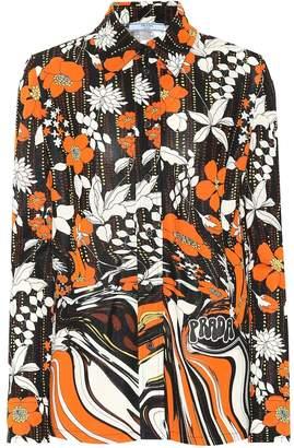 Prada Floral jersey shirt