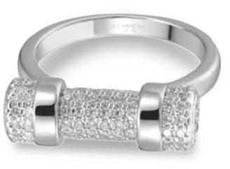 Opes Robur Paved White Gold D Ring