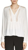 Maje Colombe Lace-Inset Blouse