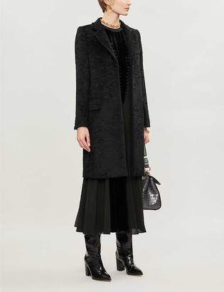 Max Mara Oncia tassle-fringe belt wool-blend coat