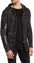 Ron Tomson Contrast Patch Cardigan