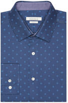 Perry Ellis Slim Fit Geometric Flower Dress Shirt