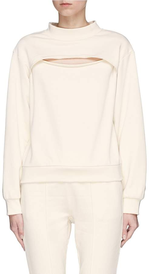 Alexander Wang Slit front French terry sweatshirt