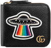 Gucci Leather coin wallet with UFO
