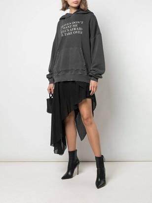 Amiri Asymmetric Plumetis Skirt