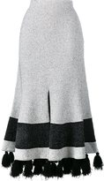 Proenza Schouler flared tasseled skirt - women - Cotton/Nylon/Polyester/Viscose - S