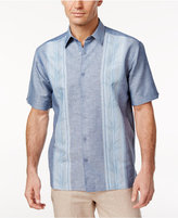 Cubavera Men's Linen Chambray Striped-Panel Shirt