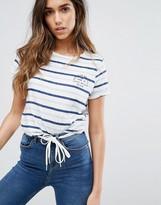 Jack Wills Buckeridge Stripe Logo Boyfriend T-Shirt