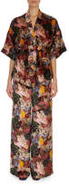 Erdem Zeta Floral-Print Velvet Kimono Jacket